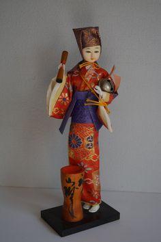 Vintage Japanese folk craft doll, mingei folk craft doll, boxed by StyledinJapan on Etsy