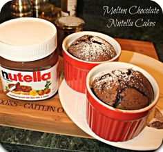 Individual-sized, molten chocolate nutella cakes...nutella lovers, rejoice! http://www.ifood.tv/recipe/individual-molten-chocolate-nutella-cakes