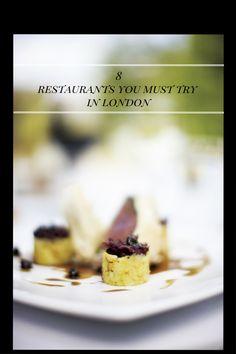 8 restaurants you must  try in London/ 8 Restaurantes en Londres de visita obligada