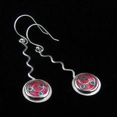 Cloisonne' Enamel Earrings by JewelryByLanni