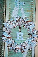 Cutzie Creations: Baby Initial Wreaths