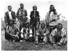 Native Women of the plains | assiniboine and gros ventre chiefs adorned for the grass dance in fort ...