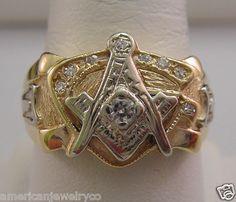 very nice vintage masonic ring Stores.eBay.com/AmericanJewelryCo