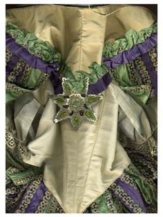 ca. 1860 ballet costume piece from the collection of the Royal Swedish Ballet. Photo by Carin Ingalsbe.