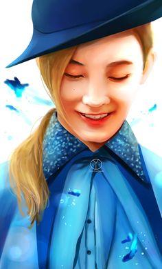 7bb0f7f7ad1 Jeonghan as Fleur Delacour  Omg this pretty boy  jeonghan  seventeen  fanart