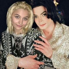Paris and her father - I wish this could have been a real picture... RIP, MJ