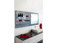 Móvel de parede de vidro float com espelho DECORFLOU® DESIGN MARC KRUSIN by OMNIDECOR