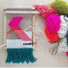 Summer neon wall weaving