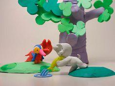 My son loves Mio Mao Clay Animation, Animation Film, Son Love, Stop Motion, Puppets, 2nd Birthday, Dinosaur Stuffed Animal, Illustration Art, Toys