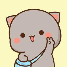 Chibi Cat, Cute Chibi, Couple Wallpaper, Kitten Gif, Couple Drawings, Space Cat, Cute Images, Cat Art, Cute Wallpapers