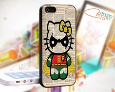Hello Kitty Robin Custom - design for iPhone 5 Black case