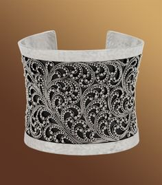 Lois Hill - Hand Crafted Sterling Silver Women's Cuff Bracelet: Classic Tapered Granulated Cuff with Hammered Border
