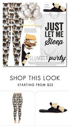 """Sleep on It! Slumber Party Style"" by svijetlana ❤ liked on Polyvore featuring Sanayi 313, slumberparty, polyvoreeditorial and spfashion"