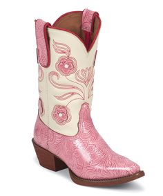 Take a look at this Pink Tiny Lama Vaquero Carnation Texas Cowgirl Boot - Girls on zulily today!