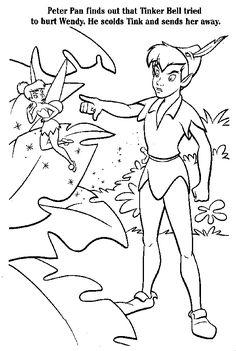 Peter Pan e o capitão gancho para colorir - Desenhos e Riscos