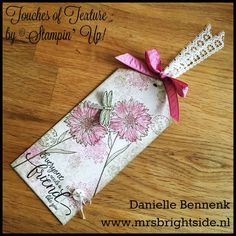 Touches of texture, Timeless Textures and suite sentiments by Stampin' Up! Vintage shabby chic style label.