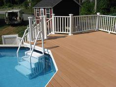 Acq Pressure Treat Pine Wood Deck Steps With Deckorators