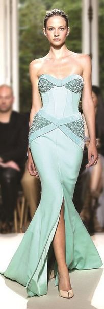 Evening gown, couture, evening dresses, formal and elegant Georges Hobeika.