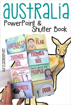 Australia PowerPoint and shutter book project ($) teach your kids about the geography and culture of Australia with this fun lesson and activity, great for first, second, and third grade!