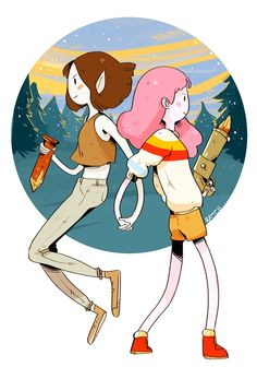 Stakes, Marceline and Princess bubblegum bubbline Art Adventure Time, Adventure Time Wallpaper, Adventure Time Characters, Adventure Time Marceline, Adventure Time Drawings, Adventure Time Princesses, Princess Adventure, Adventure Time Vampire, Adventure Time Stakes