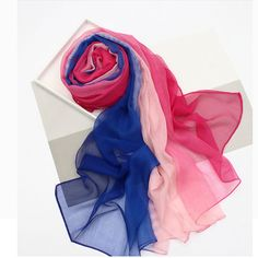 Luxury Brand Bandana Scarve Woman Silk Scarf Women Shawl High Quality Mixed Colors Sunscreen Beach Towel Thin Long 7011J6