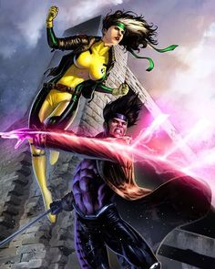 Rogue and Gambit (by: Geebo Vigonte/Colors by: Tots Valeza)