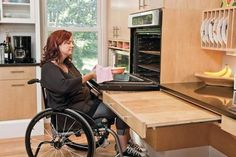 1000 images about ada universal design kitchen on for Kitchen design for wheelchair user
