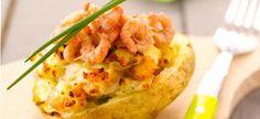 Delhaize - Pommes de terre farcies aux crevettes grises
