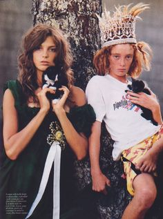Daria Werbowy by Bruce Weber for Vogue France, November 2004