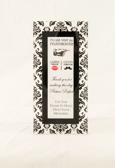 Magnetic Photo Booth Frame with easel option whimsical Black - Photo Booth Frames