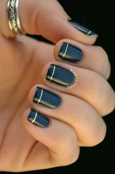 dark blue and gold