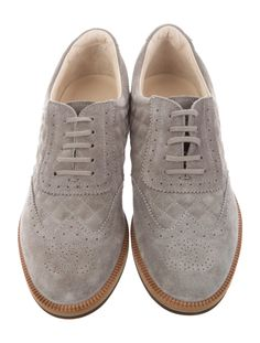 Chanel Suede Oxfords - Shoes - CHA519127 | The RealReal Suede Oxfords, Heritage Brands, Shoe Closet, Luxury Consignment, Cole Haan, Oxford Shoes, Dress Shoes, Lace Up, Chanel
