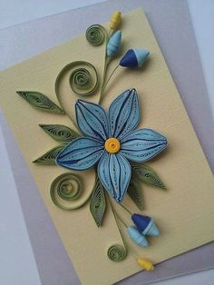 Quilling Flowers on Card Neli Quilling, Quilling Images, Quilling Butterfly, Quilling Dolls, Paper Quilling Cards, Paper Quilling Flowers, Paper Quilling Patterns, Quilled Paper Art, Quilling Jewelry