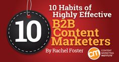 10 Habits of Highly Effective B2B Content Marketers http://contentmarketinginstitute.com/2015/03/effective-b2b-content-marketers/?utm_campaign=crowdfire&utm_content=crowdfire&utm_medium=social&utm_source=pinterest