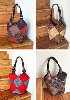 16조각 가방 만들어 보셨나요 : 네이버 블로그 Patchwork Bags, Quilted Bag, Bodice Pattern, Sewing Lessons, Quilting Projects, Louis Vuitton Damier, Straw Bag, Diy And Crafts, Reusable Tote Bags