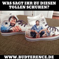 Converse Bud Spencer Chucks - All About Converse Chucks, Converse Chuck Taylor, Chuck Taylors, Bud Spencer Terence Hill, Retro Hits, Shoe Recipe, Hair Tuck, All Star, Charming Man