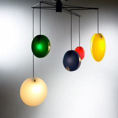 549: Gino Sarfatti / Lollipop chandelier, model 2072