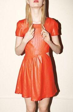 Orange cutout dress
