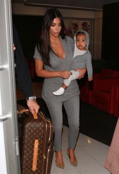 Or when she kept it casual by going gray withKim.