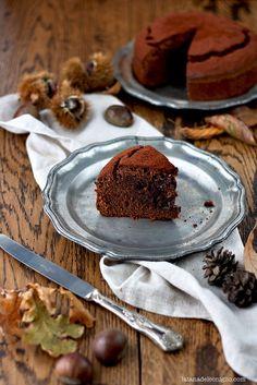 chocolate and chestnut cake - Torta morbida al cioccolato e farina di castagne by la tana del coniglio