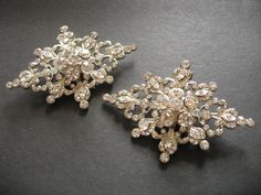 Romantic Victorian Glamours Swarovski Rhinestones Crystals Dance Bridal Bridesmaids Flower Girls Shoe Clips by GlamoursBridal on Etsy https://www.etsy.com/listing/127857107/romantic-victorian-glamours-swarovski