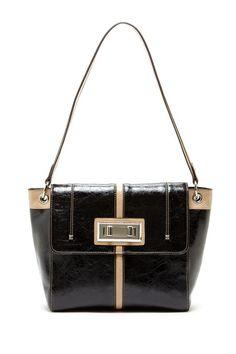 Tosca Handbags Double Twist Bag black & tan