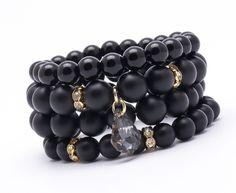 Wristbands & Bracelets – Set of 4 bracelets Black 004 – a unique product by Blackif on DaWanda
