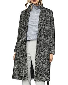 Reiss Madelyn Boucle Longline Coat In Multi Reiss Fashion, Long A Line, Coats For Women, Duster Coat, Shop Now, Espadrilles, Flats, Jackets, Clothes