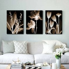 Buy Wall Art Canvas Painting Abstract White Flowers Painting On Canvas Home Decor Wall Pictures For Living Room Wall Painting Living Room Canvas Prints, Living Room Art, Canvas Home, Canvas Wall Art, Canvas Painting Patterns, Art Pour Salon, Images Murales, Living Room Pictures, Wall Pictures