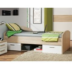 Wardrobe bed combination - Best Home Decorating Ideas - How To Design A Room - homehomedecor Wardrobe Bed, Bed In Closet, Sonoma Oak, Ikea Bedroom, Solid Oak, Bunk Beds, Home Furniture, Storage, Modern
