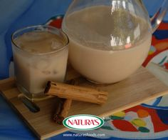 Traditional thirst-quenching milk-rice drink flavored with a blend of cinnamon and vanilla.  Bebida tradicional basada en leche-arroz, sazonada con canela y vainilla.