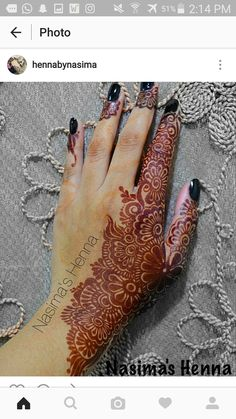 Henna designs 2016 Arabic designs Instagram  Hennabynasima