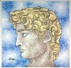 Michelangelo, Princess Zelda, Painting, Fictional Characters, Mosaic, David, Art, Art Background, Painting Art