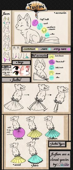 FoxFan Species Guide (Closed Species) + F.A.Q by Belliko-art on DeviantArt